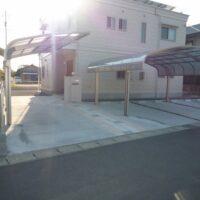 駐車場・カーポート・フェンス・テラス工事です